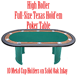 FINAL TABLE Texas Hold'em Table-Pedestal Legs -84 inch