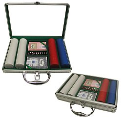 200 Super Diamond Poker Chips w/Clear Cover Aluminum Case