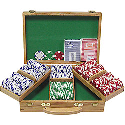 300 Chip Ace/King Suited 11.5g Set w/Genuine Oak Case
