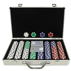 400 11.5 Gram DICE-STRIPED Chips in Silver Aluminum Case