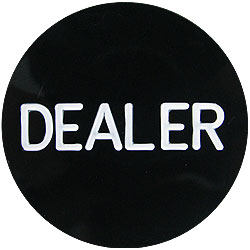 Professional Black Dealer Button