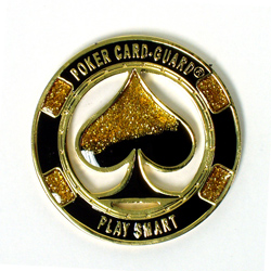 Cut Out Spade Card Guard - GOLD