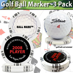 Ball Mark 3 Pack - WSOP Logo - Official Souvenir