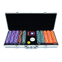 500 World Tophat & Cane PaulsonR Clay Chips w/Aluminium Case