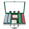 200 Jackpot Casino Poker Chips w/Clear Cover Aluminum Case