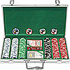 300 11.5G Jackpot Casino Clay Poker Chips w/Aluminum Case