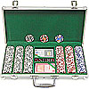 300 11.5g 4 Aces Poker Chip Set w/Aluminum Case
