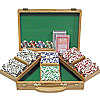 300 11.5g 4 Aces Poker Chip Set w/Genuine Oak Case