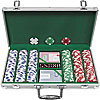 300 Chip Ace/King Suited 11.5g Set w/Aluminum Case