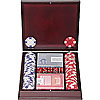 100 Chip Ace/King Suited 11.5g Set w/dark wood case