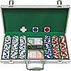 300 11.5G Holdem Poker Chip Set w/Aluminum Case
