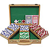 300 11.5G Holdem Poker Chip Set w/Genuine Oak Case