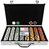 400 Chip Tri-Color Suit Design Set w/Aluminum Executive Case