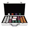 400 Tri Color Ace/King Suited 14 gram Chips Aluminium Case