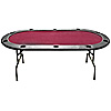 Full Size Texas Holdem Burgundy Felt Poker Table 83 x 44