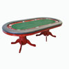 Texas Holdem 96 inch Table Mahogany Deluxe