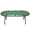 Full Size Texas Holdem Green Felt Poker Table 83 x 44